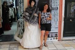 40 degrees heat.. fur shops everywhere in Corfu
