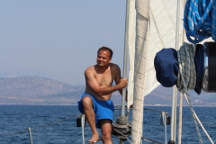 Sunil at the bow