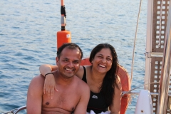 Sunil looking more relaxed out of the water